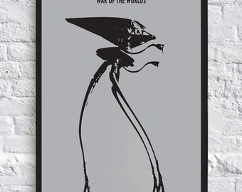 A3 - The War of the Worlds - Tripod - Alien - Minimalist - Wall Art - Movie Poster
