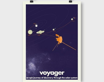 Voyager Space Probes A2 Souvenir Poster - Purple