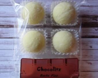 6 x Bucks Fizz Chocolate Truffles - Champagne & Orange White Chocolate Truffles - Treat Pack