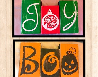 Joy and Boo Reversible Blocks