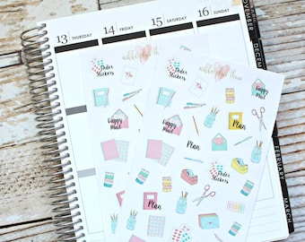 Planner and Stationary Stickers - Planner - Matte