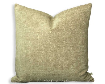 Beige Cream Spotted Designer Luxury Chenille Cushion Pillow Cover