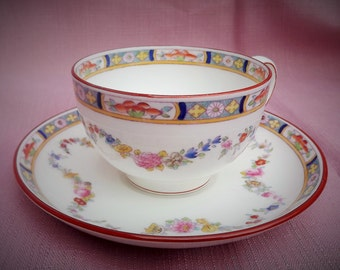 Minton Rose Pattern China Cup and Saucer