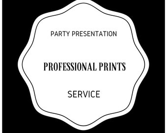 Professional Printing Service for 2 Sided Invitations Cards Announcements by Party Presentation