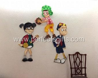 Chavo del 8 Chilindrina y Kiko - muñecos de espuma grande decorativo de la pared - Chavo del ocho - Ideal para decoración de su fiesta o niños sala