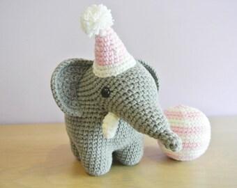 Crochet Elephant Amigurumi - Handmade Crochet Amigurumi Toy Doll - Elephant Crochet - Amigurumi Elephant - Gustav