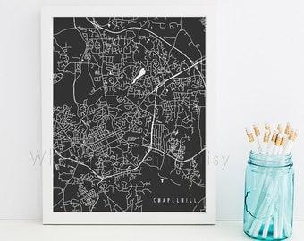 Chapel Hill Map Chapel Hill Art Chapel Hill Map Art Chapel Hill Print Chapel Hill Printable Chapel Hill City Art North Carolina Art