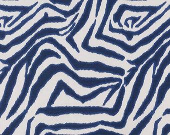 Zebra Ikat Marina ,Fabric By The Yard, Lacefield Fabrics