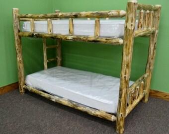 Full Premium Rustic Log Bunk Bed