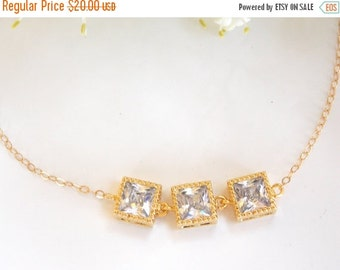 SALE Wedding Jewelry, Clear Bracelet, Cubic Zirconia,Gold Filled Bracelet,Bridesmaid Jewelry, Bridesmaid Bracelet ,Bridesmaids Gift, Bride G
