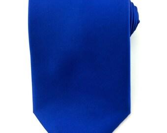 Mens Necktie Marine Blue Necktie 8.5cm Party Tie.Casual Tie.Handmade Tie. Plain blue tie. Blue tie.Formal Tie.Business Tie.Plain Blue Tie