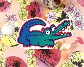 Happy Alligator Sticker