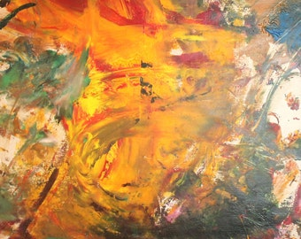 Vintage Abstract Impressionist Oil Painting