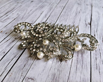 Bridal hair jewelry - vintage tiara Haaarkamm
