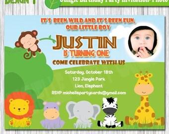 20%OFF Jungle Birthday Party Invitation-Photo