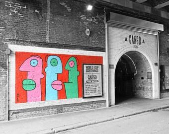 Graffiti Wall Art, Street Art Print, London Photography, Noir, Urban Decor, Contemporary Wall Art, Fine Art Print, Office, Bar Decor