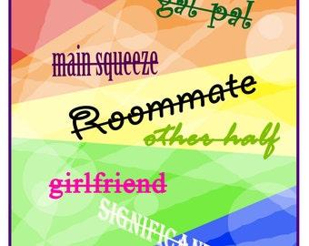 Gay Flag Lesbian Valentine
