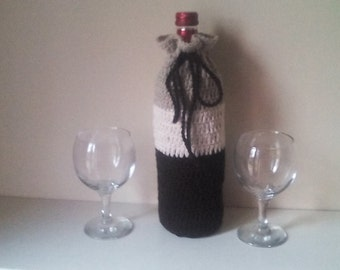 Crochet wine cover, bottle cozy,wine bottle cozy, hostess gift, wine bottle tote,Crochet wine tote