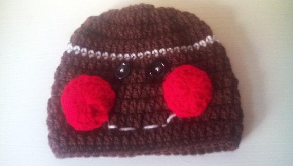 Free Crochet Pattern For Gingerbread Man Hat : Crochet gingerbread man hat gingerbread man hat Crochet