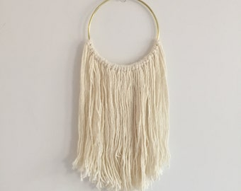 Cream Silk Hoop Dreamcatcher