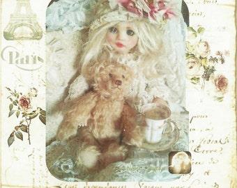 Corinne Layton Vintage Instant Digital Download Collage Card Vintage Grace (Suitable for Framing)