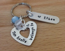personalised - aunt gift - name keyring - personalised gift - gifts for aunt - personalised keyring - auntie - sister -gift - godmother gift