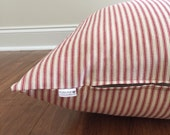 Red Dog bed cover, red ticking stripes dog bed, blue stripes dog bed cover, Stripe dog bed cover, Blue Dog bed cover, red dog bed cover