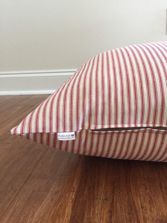 Red Dog Bed Cover Red Ticking Stripes Dog Bed Blue Stripes