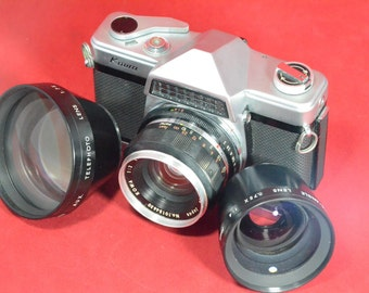 Kowa E 50 mm 2.0 with two auxalery lenses