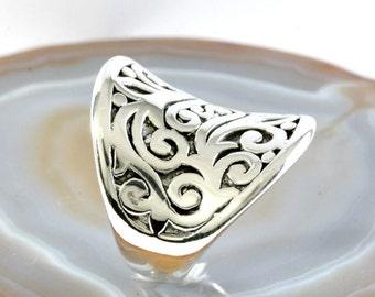Ring, 925 sterling silver, electroforming - 3053