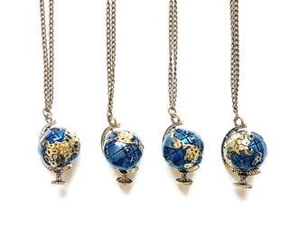 Globe Necklace // World Map Necklace // Map Jewelry // Travel Jewelry // Travel Gift // Wanderlust Jewelry // Explore