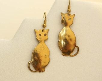 Slender Cat Earrings