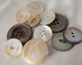 Mother of Pearl Buttons MOP Buttons B298