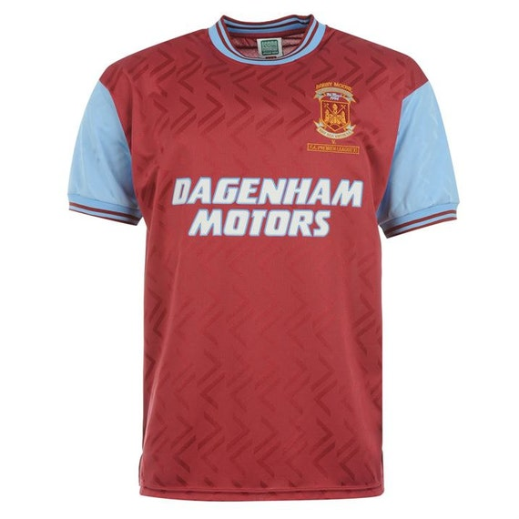 West Ham United 1994 Retro Jersey By Footyworld On Etsy
