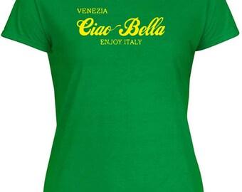 T-shirt OLDENG00829 ciao bella Venice blue