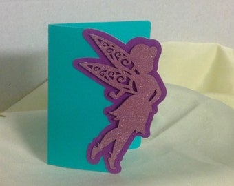 Sparkle Fairy Card , All Occasions , Kids , Girls , Friends , pop up , pink , purple