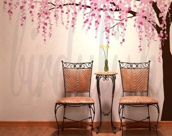 Cherry blossom wall decals tree decals baby nursery kids flower floral nature wall stickers- Cherry Blossom Tree Murals