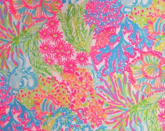 LOVERS CORAL 18x18 inches or 1 yard Lilly  Fabric BY the yard