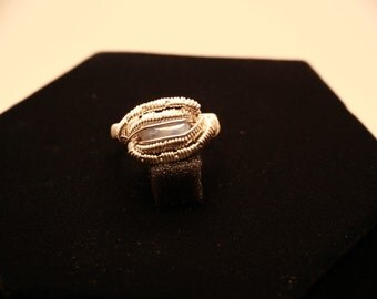 Sterling silver Sodalite ring size 8.5
