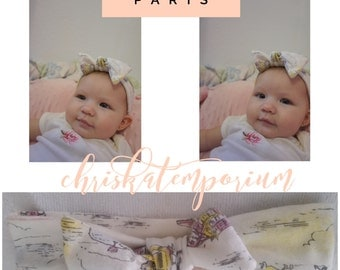 The Riley Baby Knot Headband - Paris