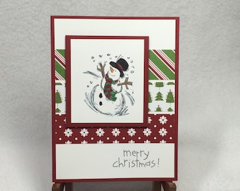 Christmas Snowman Handmade Stampin' Up! Card