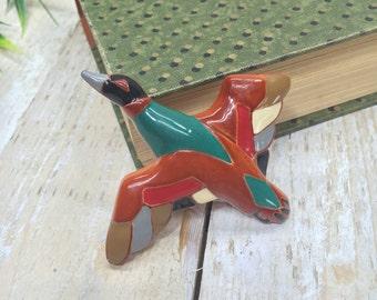 Flying Bird Pin, Flying Bird Brooch, DL pin, Bird Jewelry, Flying Bird Charm, Bird Pendant, Bird Gift, Bird Lover Gift, Bird Art