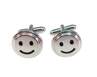 Smiley Face Cuff Links