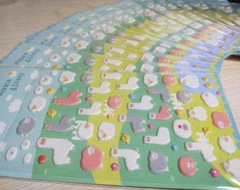 Alpaca Puffy Stickers / Cute Stickers / Kawaii Stickers / New Stickers / Scrapbook Stickers / Funny Sticker