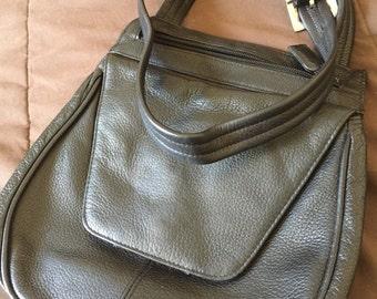 Vintage Leather Black Criss Body Purse Bag Tignanello