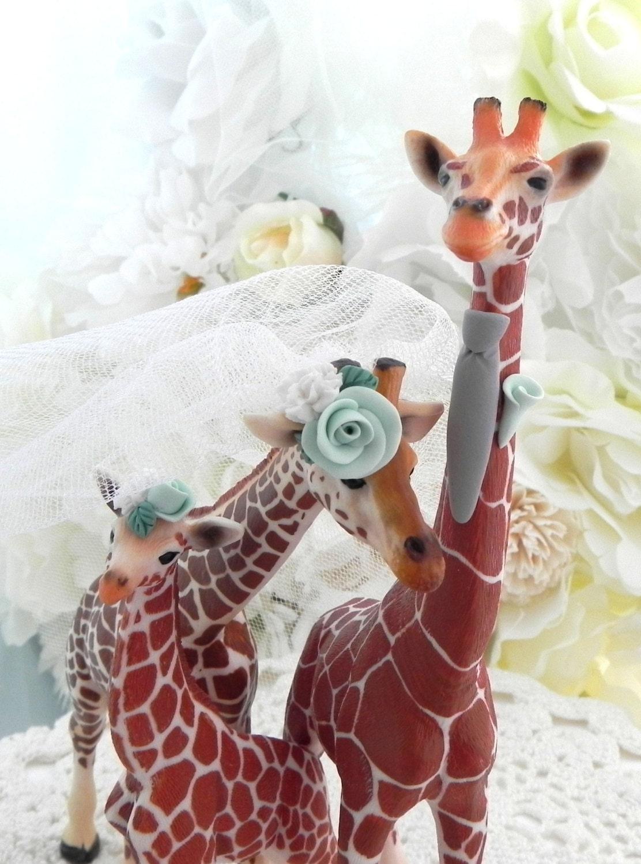 Giraffe Family Wedding Cake Topper With Custom By AnimalToppers
