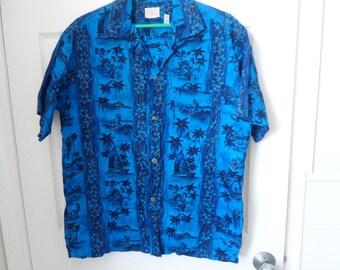 Vintage Men's Hawaiian Shirt  Made in Hawaii