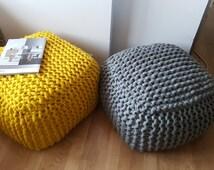einzigartige artikel zum thema yellow pouf etsy. Black Bedroom Furniture Sets. Home Design Ideas
