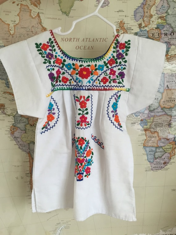 Embroidered mexican baby dress girl dresses by