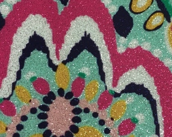 Glitter SISER HTV featuring patterns inspired by Lilly Pulitzer